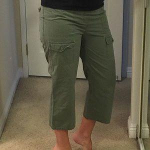 Oh Baby by Motherhood olive capri pants