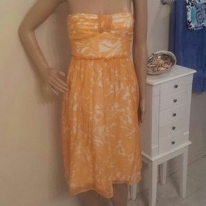 J.crew 100% silk strapless dress