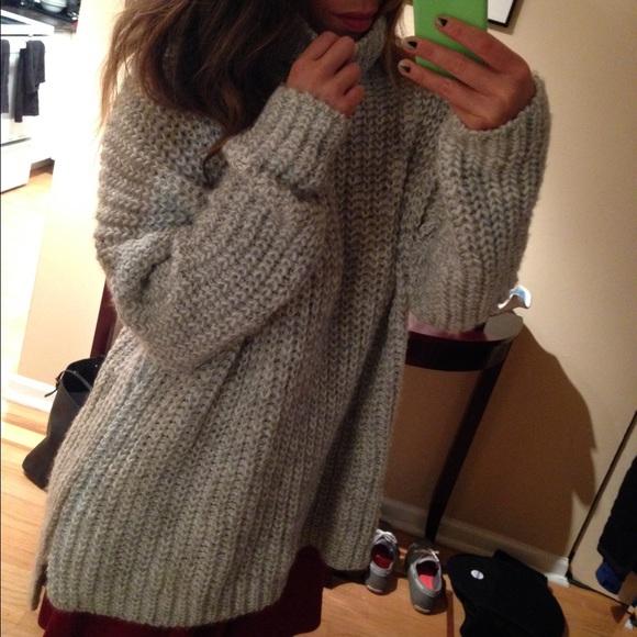 50% off Zara Sweaters - Bundle Zara grey oversized turtleneck ...