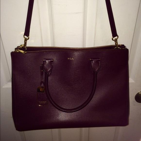 5c165d3acdcd Lauren Ralph Lauren double zip satchel. M 555ffd25620ff778ef00253c