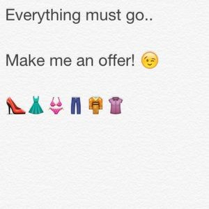 Everything must go..