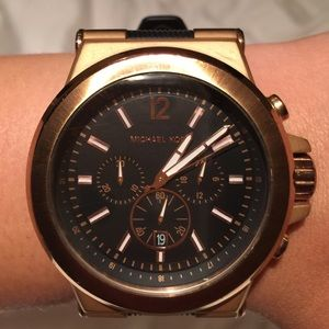 Michael Kors -Rose Silicone Chronograph Watch