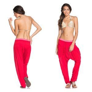 NEW Red Harem Pants