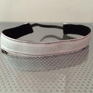 White Glitter stripe non-slip headband