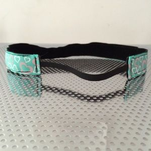 Teal hearts non-slip headband