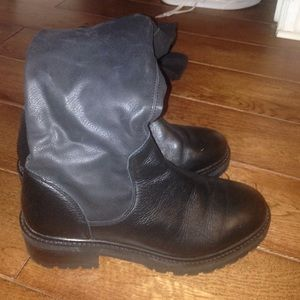 Over the knee TOPSHOP black boots size 9