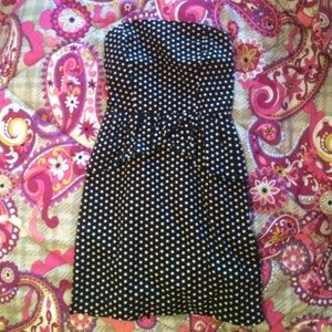 Delias strapless polka dot dress!