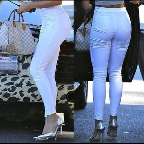 23% off American Apparel Pants - American Apparel White Easy Jeans ...