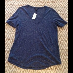 Banana Republic Tops - 🚫SOLD 🚫Banana Republic Blue Linen Tshirt