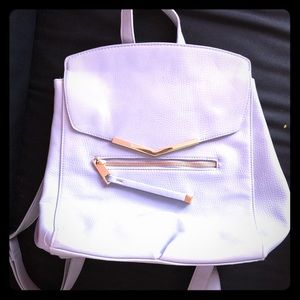 Handbags - Baby blue leather backpack