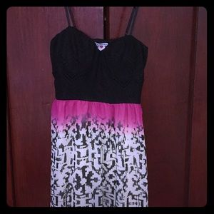Three Pink Hearts Tribal Maxi Dress