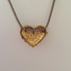 Jewelry - Gold plated heart necklace silver chain💛