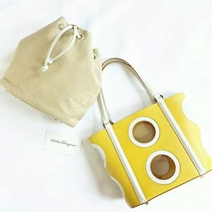 SALVATORE FERRAGAMO CUT-OUT TOTE