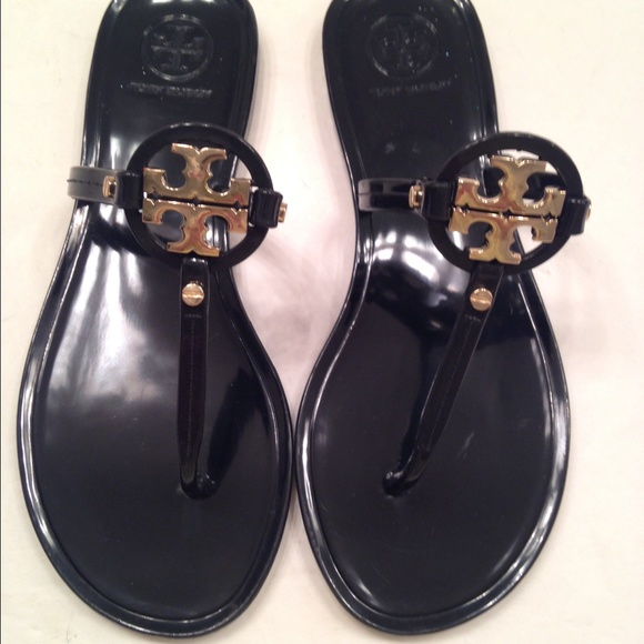e73638f427e0 Tory burch mini miller black jelly thing sandals 5.  M 5560a8486d64bc091a0037e5