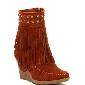 Boho Moccasin wedges