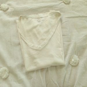 J. Crew White Fitted Tee