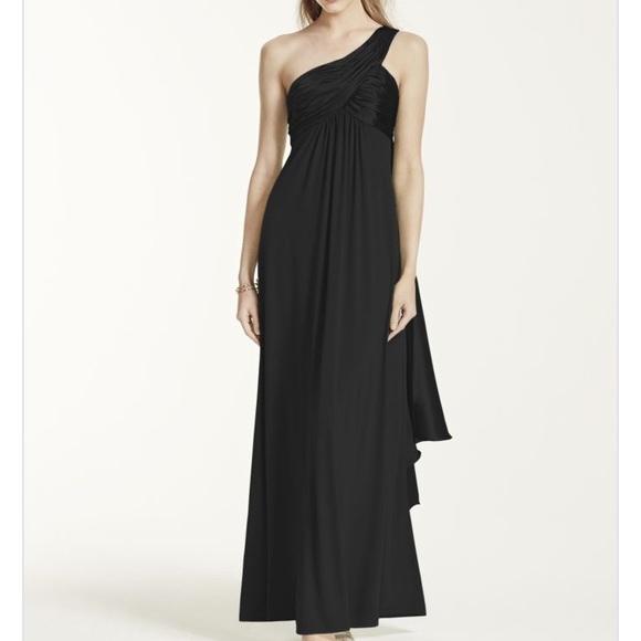 David's Bridal Dresses & Skirts - NEW 🖤 David's Bridal One Shoulder Jersey Dress