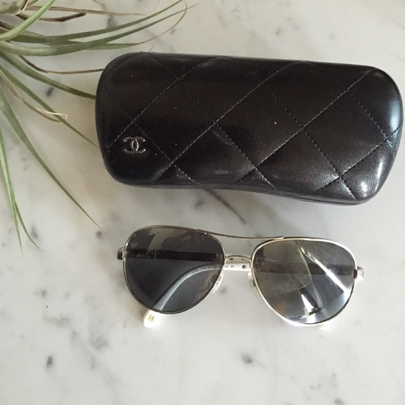 7c254b684e6f CHANEL Accessories - Chanel Mirrored Aviator Sunglasses
