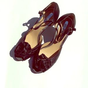 Black Satin Sam& Libby Sandals