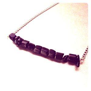 Jewelry - Black onyx simple bar necklace
