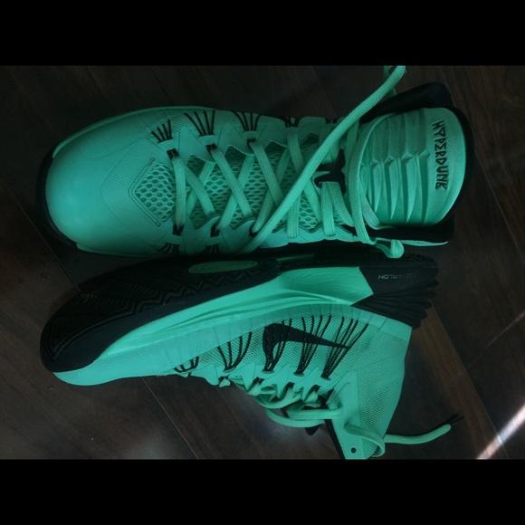 55 off nike shoes nike hyperdunk 2013 green glowblack