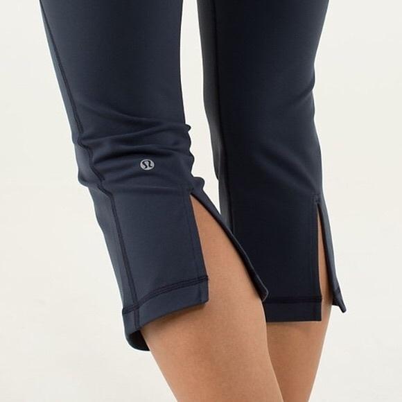 a992442c7f28a lululemon athletica Pants - Lululemon Athletica black Capri with slit size 4