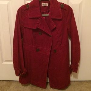 Forever 21 Corduroy Berry Colored Coat