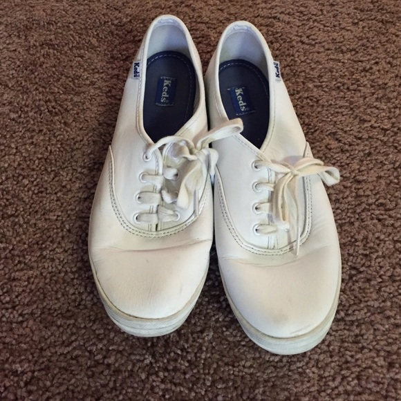 keds sneakers white leather