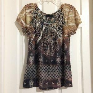 BLEU Tops - B.L.E.U short sleeve blouse