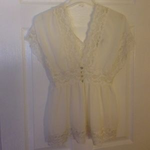 Creme Forever 21 top. Worn once!