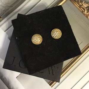 J.crew Crystal Domed Earrings