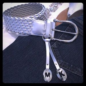 👠Style Obsessions Host Pick👠Silver Leather Belt.