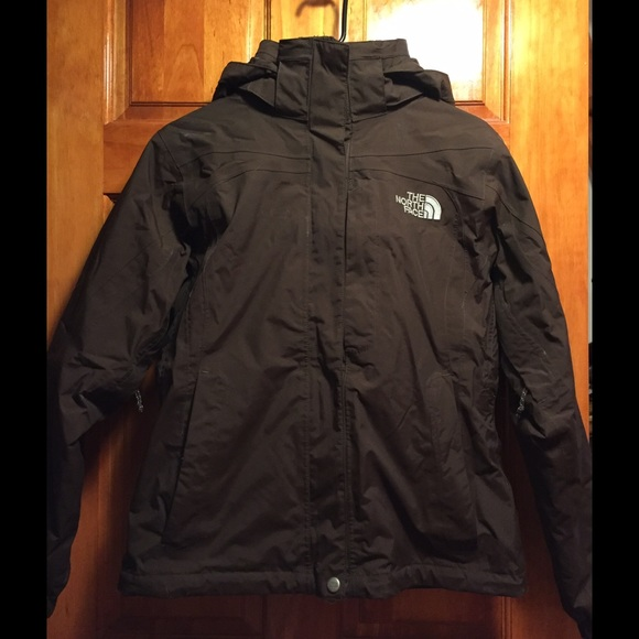 a088ae0dc North Face Hyvent Brown Three-in-One Jacket