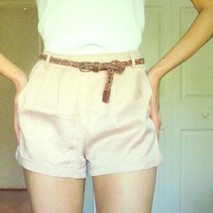 F21 pink rose trouser shorts size small