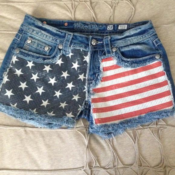 60% off Miss Me Denim - Miss Me American Flag Denim Shorts from ...