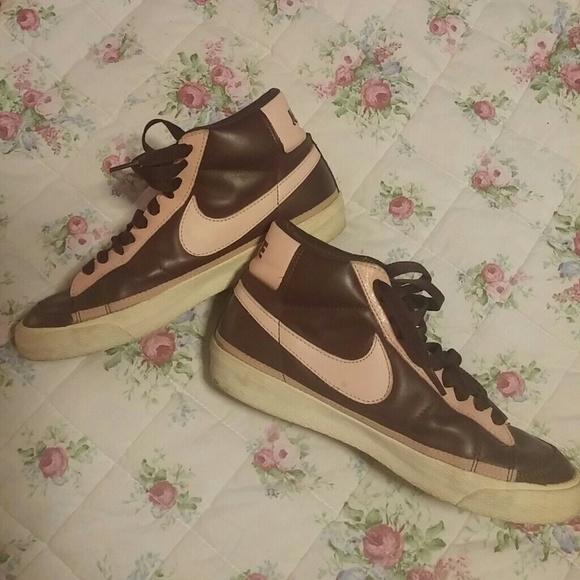Vintage Nike Old school Leather hightop