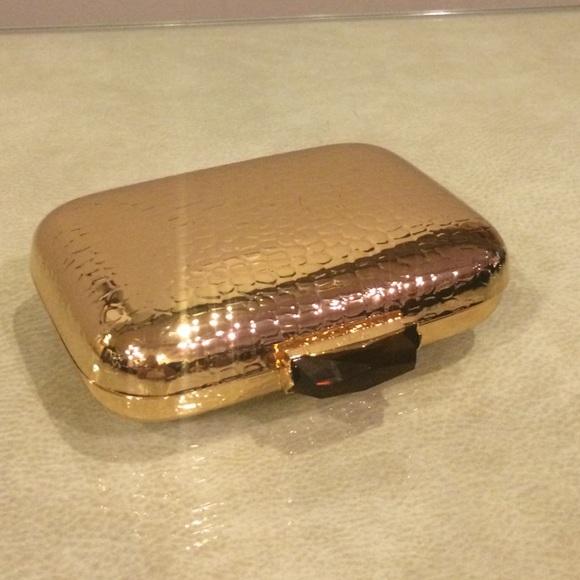 529b0beb8a7 Kotur Bags | Sold Gold Shell Clutch | Poshmark