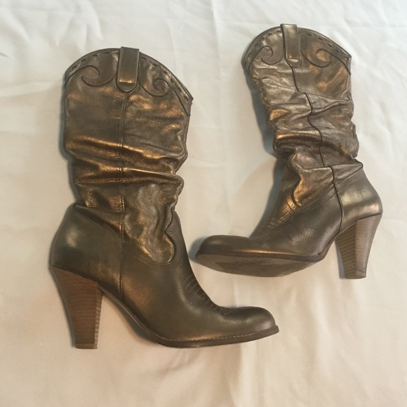 Jessica Simpson - Bronze Jessica Simpson cowboy boots from Nancy's ...