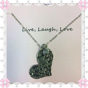 Jewelry - Live-Laugh -Love  Silvertone Necklace