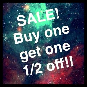 SALE!! Buy one, get one 1/2 off!! (please share!)