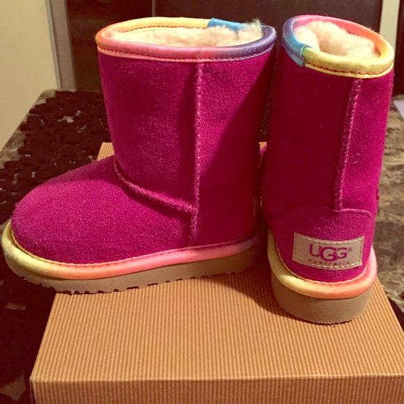 Rainbow Uggs Toddler Girls Size 7!
