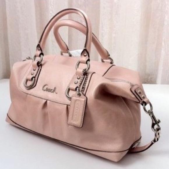 Coach Handbags - Coach Ashley Leather Powder Pink Satchel Bag 38c6a6b16260d