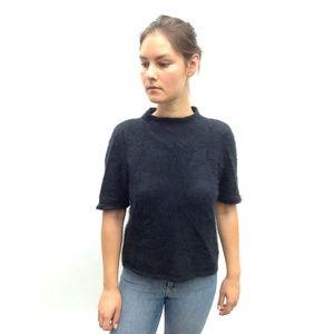 Vintage black angora/mohair sweater