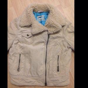 Hollister motorcycle corduroy Sherpa jacket coat S