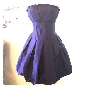 🔥Purple corset bubble hem dress🔥one of a kind❗️