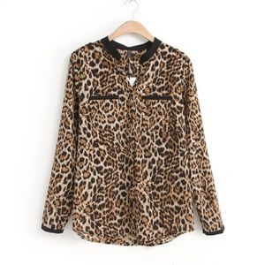 Forever 21 Tops - • Cute Cheetah Shirt •