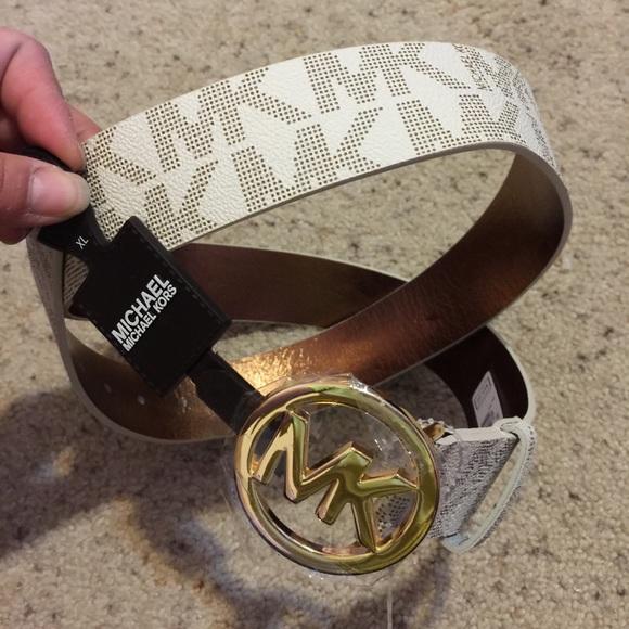 3d462e8fc762 Michael Kors women s belt size XL white  gold