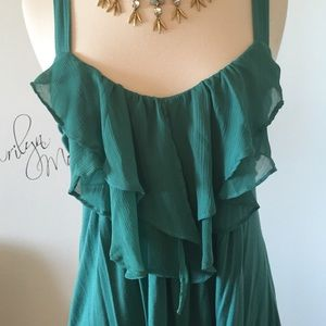 Forever 21 Tops - Teal color ruffle top/tunic 👗 Cute and Fun! 🎉