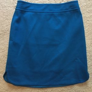 Ann Taylor Crepe Turquoise Skirt Size 4