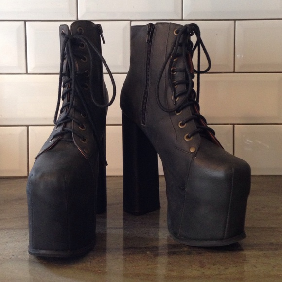 6b095db5773 Jeffrey Campbell Boots - Jeffrey Campbell Big Lita Platform Boot in Black